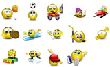 Emoticons 3d sport Msn Messenger